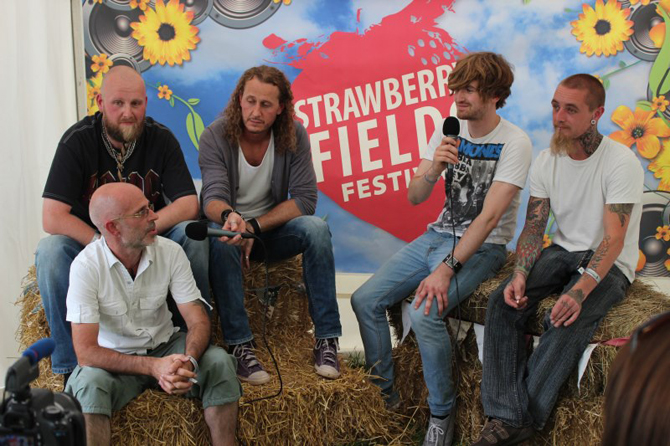 Resin being interview at Strawberry Fields Festival 2012