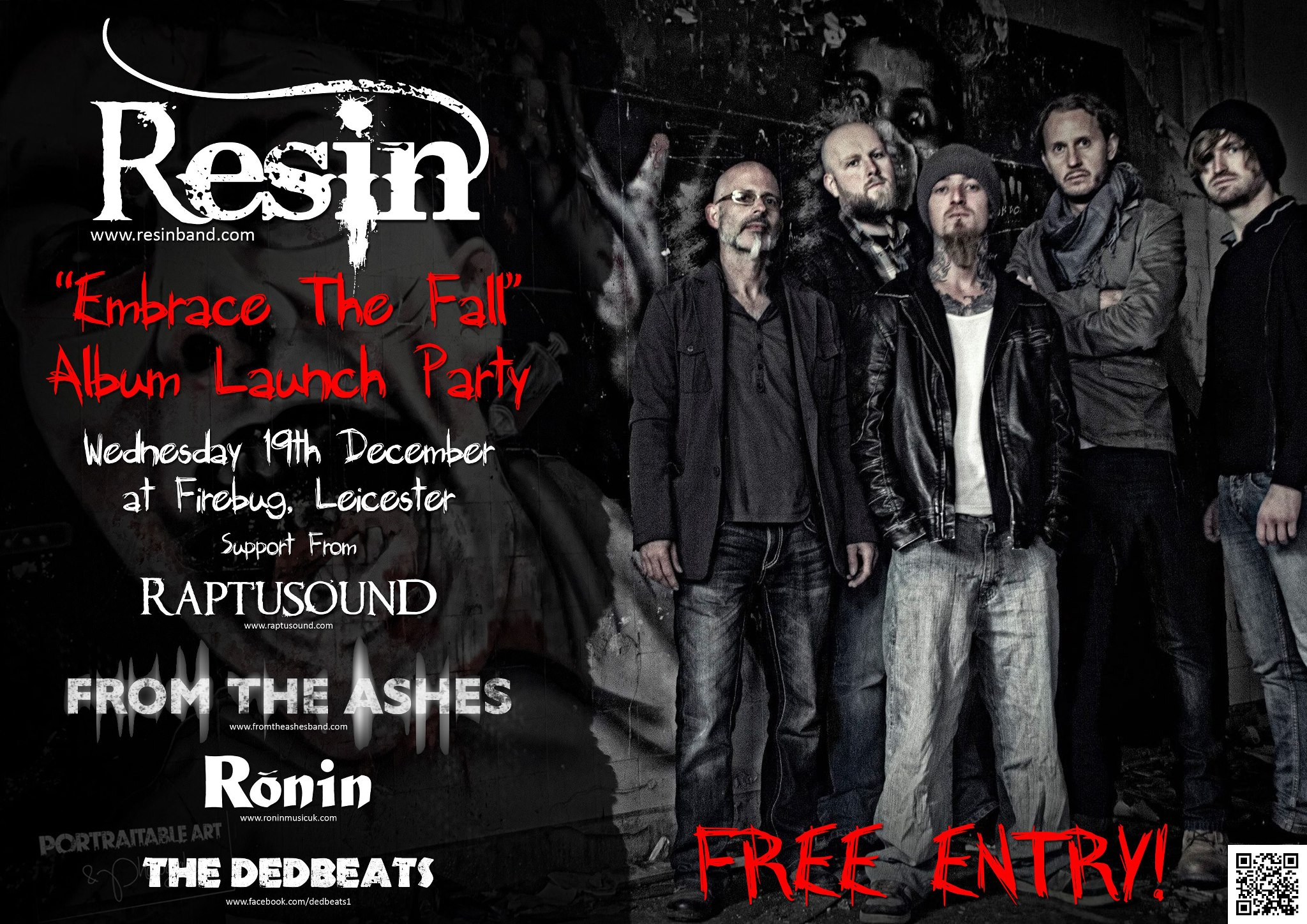 Resin - Embrace The Fall Album Launch Party