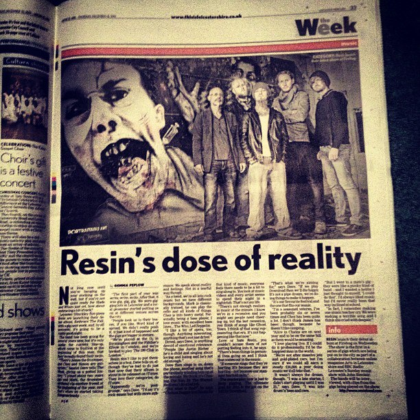 resin in the leicester mercury