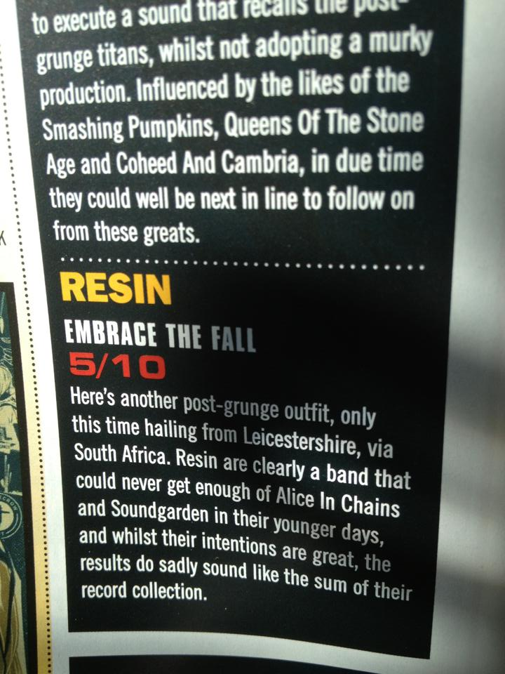 Resin Embrace The Fall Big Cheese Review July 2013